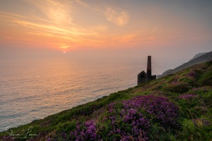 cornwall, sunset, poldark,