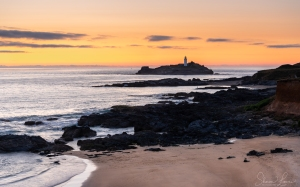 sunset, cornwall, gwithian, photography